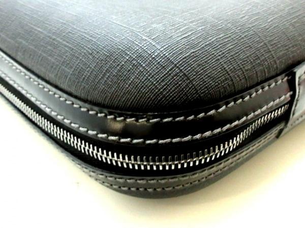 GUCCI(グッチ) ビジネスバッグ ダブルG 189762 黒 PVC(塩化ビニール)×レザー