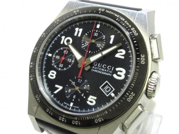 グッチ 腕時計美品  パンテオン オートマティック クロノグラフ 115.2 メンズ 黒