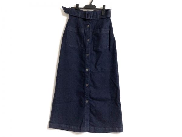 ダイアグラム ロングスカート サイズ36 S レディース ネイビー デニム