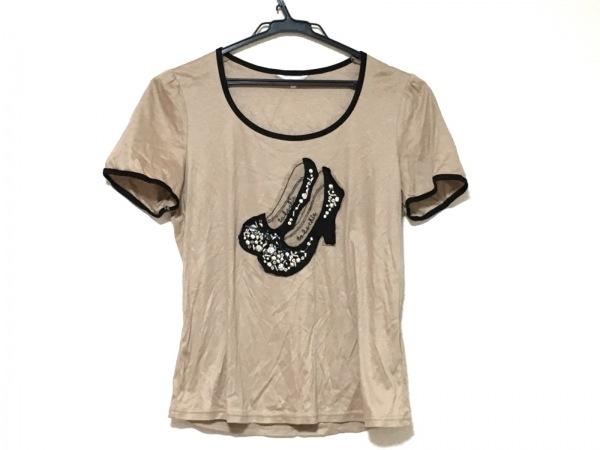 トゥービーシック 半袖カットソー サイズ3 L レディース美品  ブラウン×黒