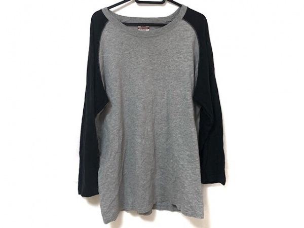 BEAMS PLUS/BEAMS+(ビームスプラス) 長袖Tシャツ メンズ グレー×黒