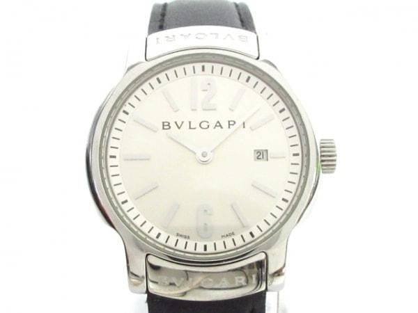 BVLGARI(ブルガリ) 腕時計 ソロテンポ ST29S レディース 革ベルト シルバー