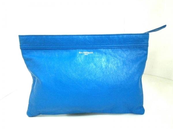 BALENCIAGA(バレンシアガ) クラッチバッグ美品  - 482083 ブルー レザー