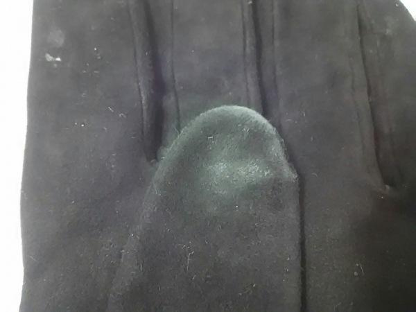 ケイタマルヤマ 手袋 レディース 黒×ゴールド×レッド スエード 6