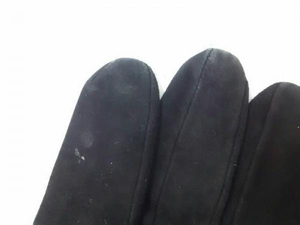 ケイタマルヤマ 手袋 レディース 黒×ゴールド×レッド スエード 7