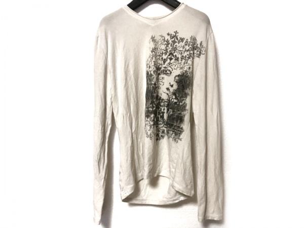 JeanPaulGAULTIER(ゴルチエ) 長袖Tシャツ サイズ48 XL レディース 白×黒