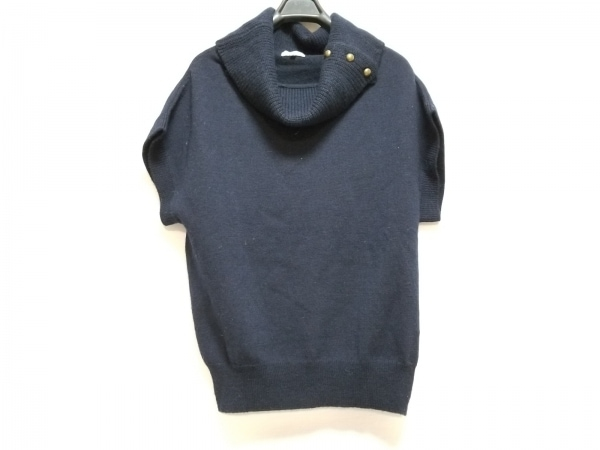 マッキントッシュフィロソフィー 半袖セーター サイズ38 L レディース ネイビー