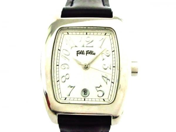 FolliFollie(フォリフォリ) 腕時計美品  S922 レディース 社外ベルト シルバー