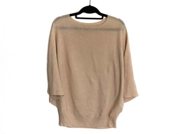 プリスティン 半袖セーター サイズM レディース美品  ベージュ ドルマンスリーブ