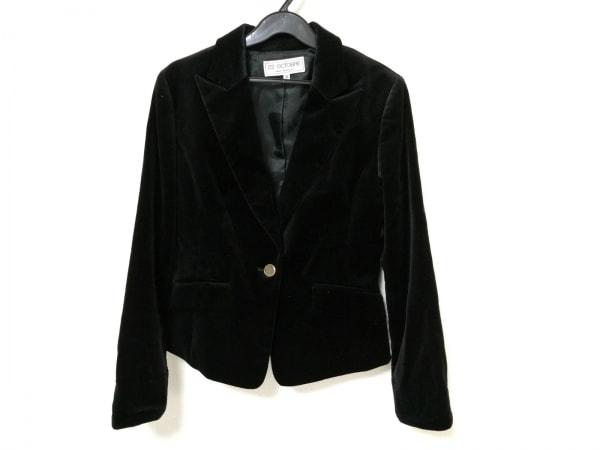 22OCTOBRE(ヴァンドゥ オクトーブル) ジャケット レディース 黒 ベロア