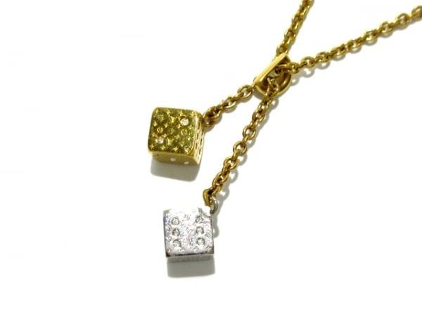 ルイヴィトン ネックレス美品  M62804 金属素材×スワロフスキークリスタル