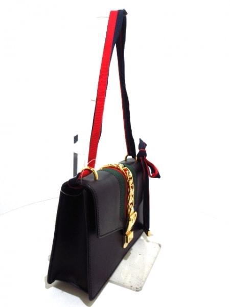 GUCCI(グッチ) ショルダーバッグ シルヴィ 421882 黒×マルチ レザー×金属素材