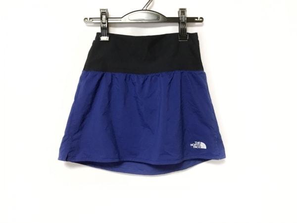 THE NORTH FACE(ノースフェイス) ミニスカート サイズS レディース美品  ブルー×黒