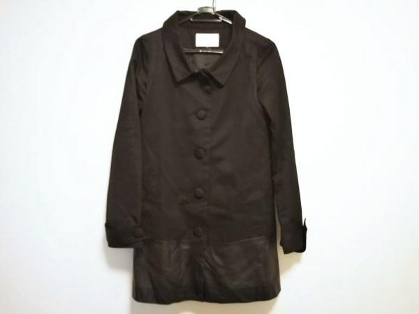 アンシャントマン コート サイズ38 M レディース美品  黒 春・秋物/異素材切替/レザー