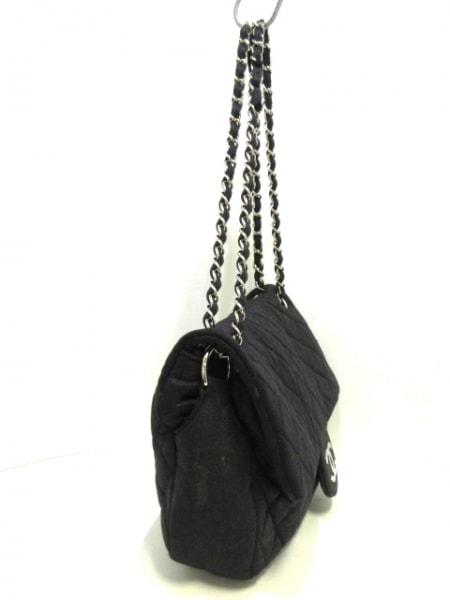 CHANEL(シャネル) ショルダーバッグ マトラッセ 黒 チェーンショルダー/シルバー金具
