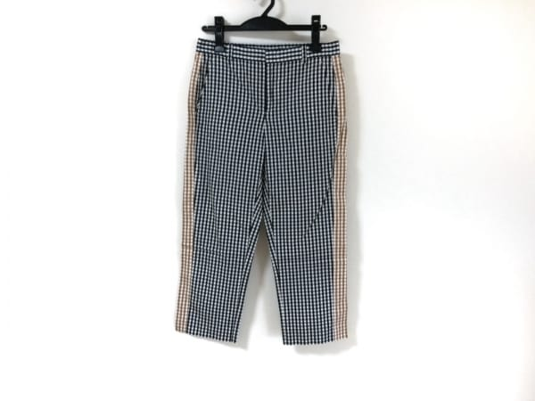 ヌメロ ヴェントゥーノ パンツ サイズ38 M レディース美品  白×黒×ライトブラウン