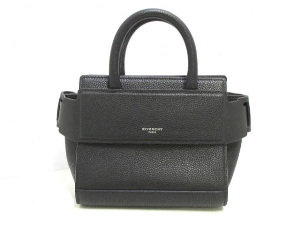 ジバンシー ハンドバッグ美品  ホライゾン BC06790037 黒 ミニバッグ レザー