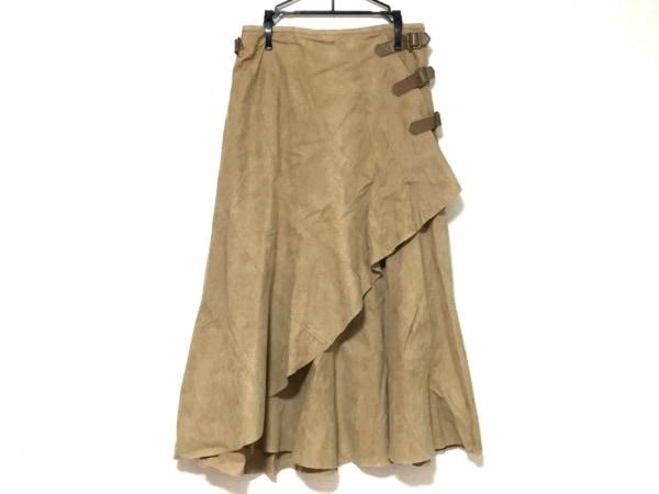 INGEBORG(インゲボルグ) 巻きスカート サイズS レディース美品  ライトブラウン