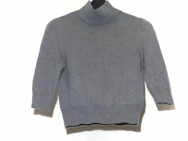 snidel(スナイデル) 七分袖セーター サイズF レディース グレー ハイネック