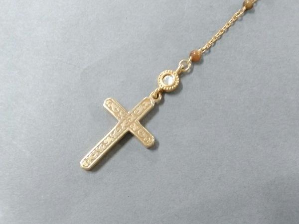 23区(ニジュウサンク) ネックレス 金属素材×カラーストーン×ラインストーン クロス