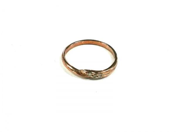 スタージュエリー リング美品  K10×ダイヤモンド 3Pダイヤ/0.01カラット