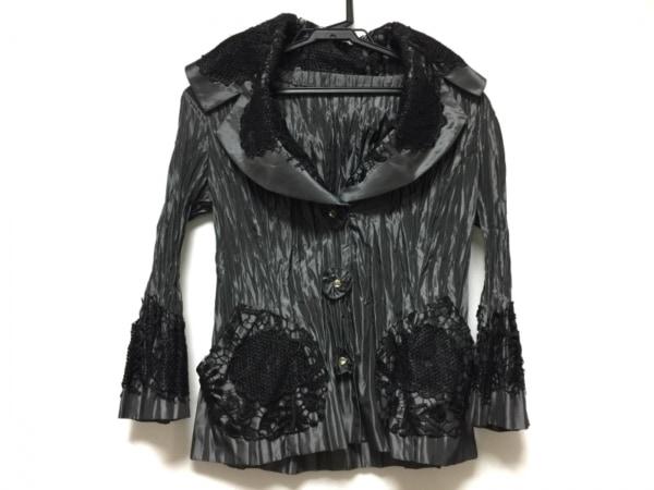NOKO OHNO(ノコオーノ) ジャケット サイズ38 M レディース美品  黒×ダークグレー