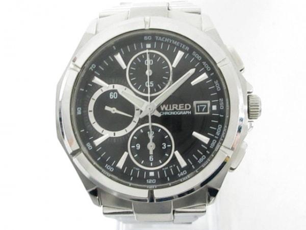 WIRED(ワイアード) 腕時計 7T92-0JK0 メンズ クロノグラフ 黒 1