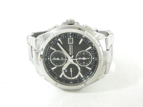 WIRED(ワイアード) 腕時計 7T92-0JK0 メンズ クロノグラフ 黒 2