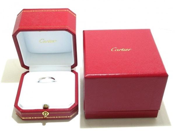 Cartier(カルティエ) リング 52美品  バレリーナカーブウェディング Pt950