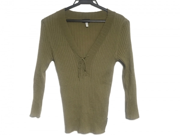 ARMANIJEANS(アルマーニジーンズ) 七分袖セーター レディース美品  ライトブラウン