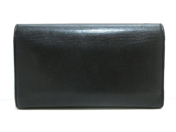 クリスチャンルブタン 長財布 黒×シルバー×グレー スタッズ レザー×金属素材