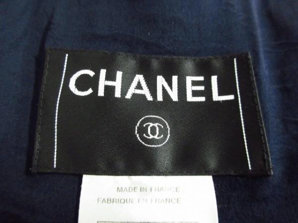 CHANEL(シャネル) コート サイズ38 M レディース グレー×ダークネイビー×ボルドー