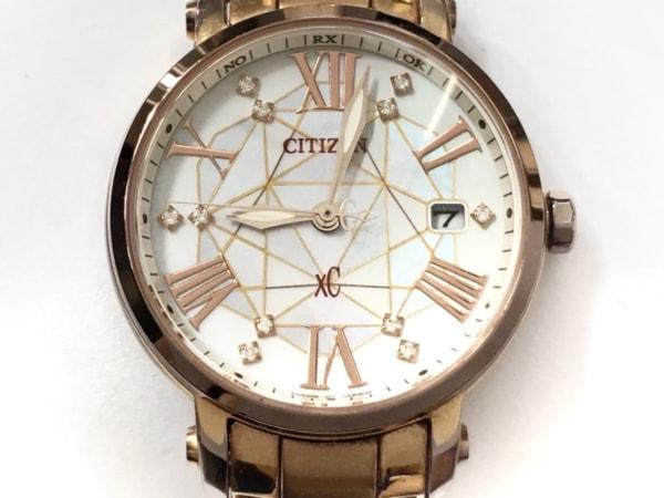 シチズン 腕時計 XC H010-T015841 レディース 11Pダイヤインデックス/シェル文字盤 白