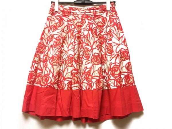 エムズグレイシー スカート サイズ38 M レディース レッド×白×ベージュ 花柄