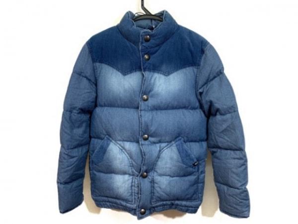 ベイフロー ダウンジャケット サイズ2 M レディース ブルー コーデュロイ/冬物