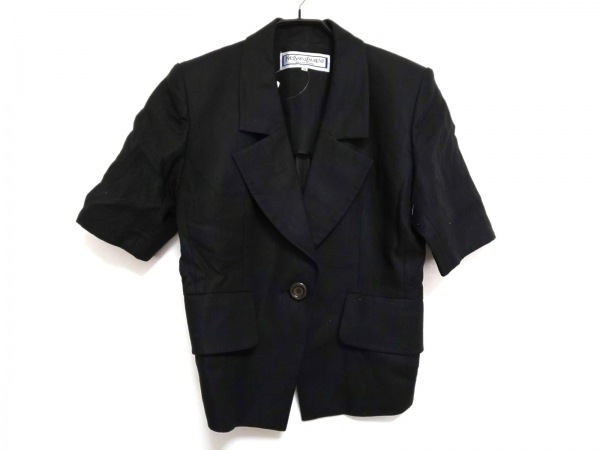 YvesSaintLaurent(イヴサンローラン) ジャケット サイズM レディース 黒 半袖