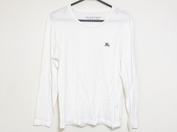 Burberry Black Label(バーバリーブラックレーベル) 長袖Tシャツ サイズ2 M メンズ 白