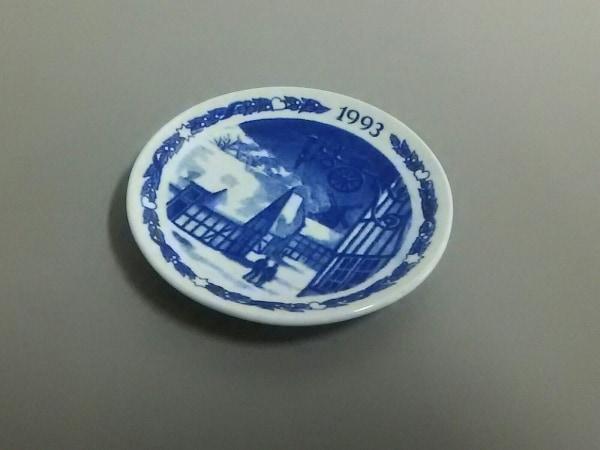 ロイヤルコペンハーゲン 小物美品  白×ネイビー 1993ミニプレート 陶器