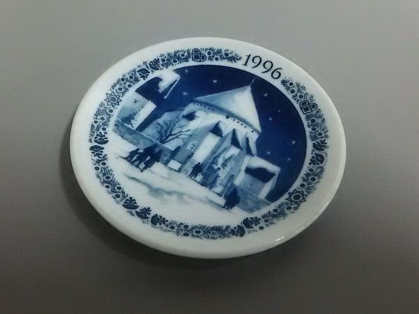ロイヤルコペンハーゲン 小物美品  白×ネイビー 1996ミニプレート 陶器