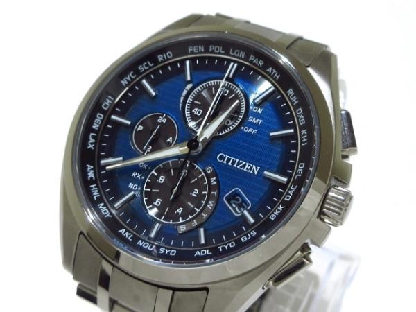 CITIZEN(シチズン) 腕時計 アテッサ H804-T018696 メンズ クロノグラフ ブルー