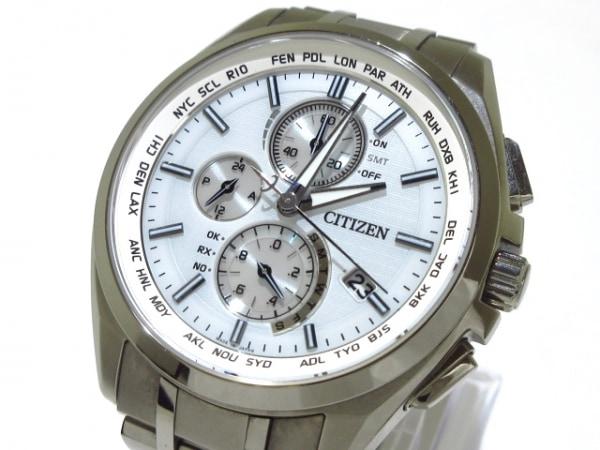 CITIZEN(シチズン) 腕時計 アテッサ H804-T018696 メンズ クロノグラフ ライトグレー