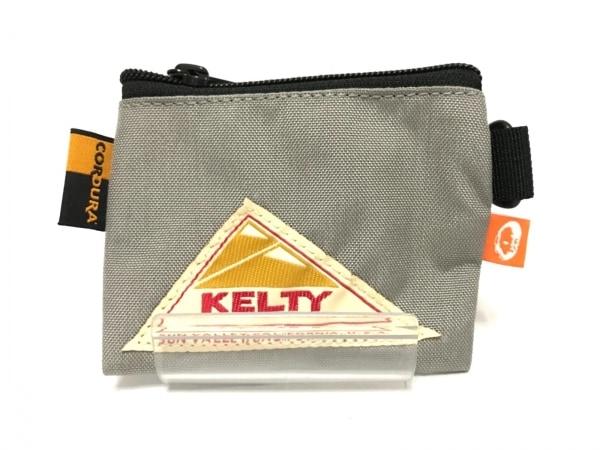 KELTY(ケルティ) コインケース グレー×アイボリー×マルチ ナイロン
