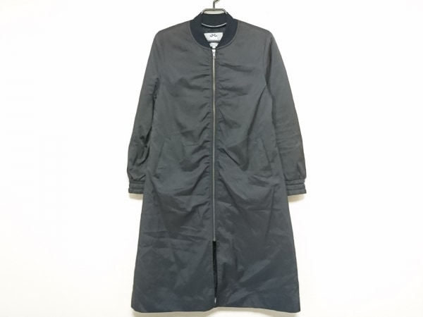 リランドチュール コート サイズ2 M レディース新品同様  黒 ジップアップ/冬物