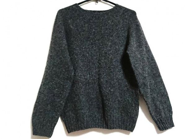 インバーアラン 長袖セーター サイズ38 M レディース ダークグレー×ボルドー×マルチ