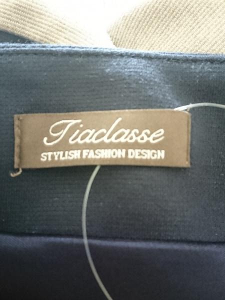 Tiaclasse(ティアクラッセ) ワンピース サイズ7 S レディース美品  ネイビー×グレー