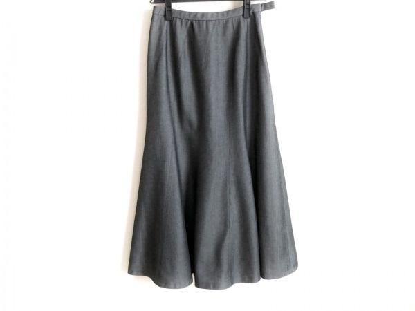 Leilian(レリアン) ロングスカート サイズ9 M レディース美品  ダークグレー×グレー