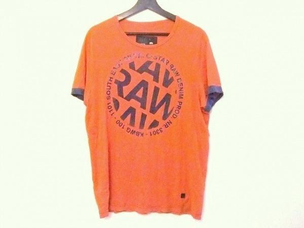 G-STAR RAW(ジースターロゥ) 半袖Tシャツ サイズL メンズ レッド×ネイビー