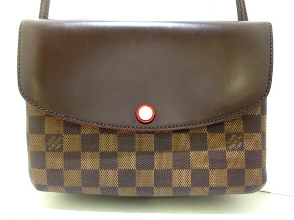 LOUIS VUITTON(ルイヴィトン) ショルダーバッグ ダミエ美品  トワイス N48259 エベヌ