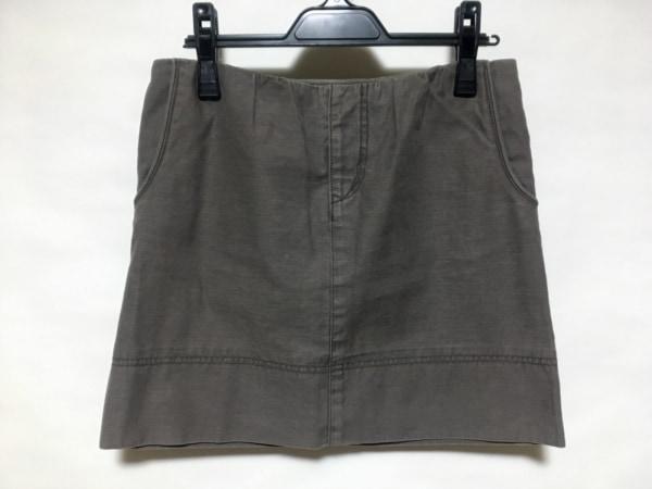 ドレステリア ミニスカート サイズ38 M レディース新品同様  ダークブラウン