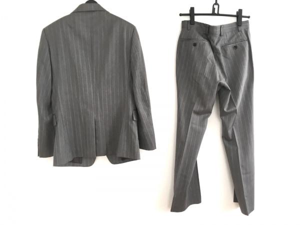コムサメン シングルスーツ サイズ44F メンズ美品  グレー×ライトグレー